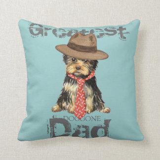 Yorkie Dad Cushion