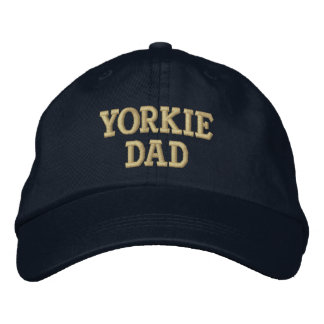 Yorkie DAD Yorkshire Terrier Gifts Embroidered Hats