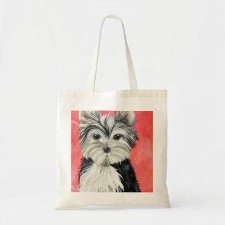 Yorkie Design Tote Bag
