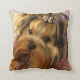 Yorkie Designer Pillow