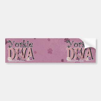Yorkie DIVA Bumper Sticker