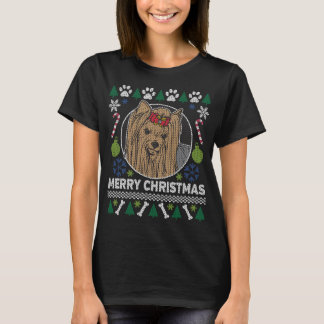 Yorkie Dog Breed Ugly Christmas Sweater