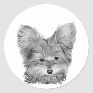 Yorkie Dog Classic Round Sticker