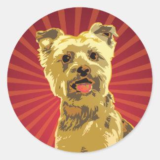 Yorkie Dog Owner Classic Round Sticker