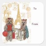 Yorkie Eiffel Tower Paris Gift Tags