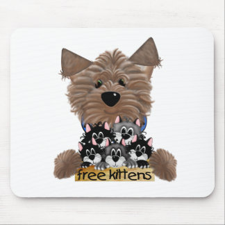 Yorkie free Kittens Mouse Mat