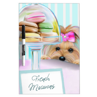 Yorkie French Macarons Dry Erase Board