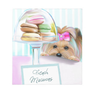 Yorkie French Macarons Notepad