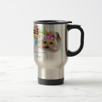Yorkie French Macarons Travel Mug