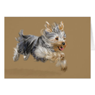 Yorkie Greeting Card, Standard white envelopes Card