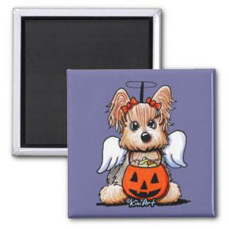 Yorkie Halloween Angel Magnet