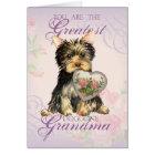 Yorkie Heart Grandma Card
