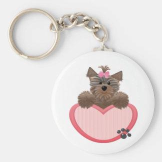 Yorkie-heart Key Ring