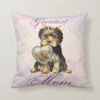 Yorkie Heart Mom Cushion