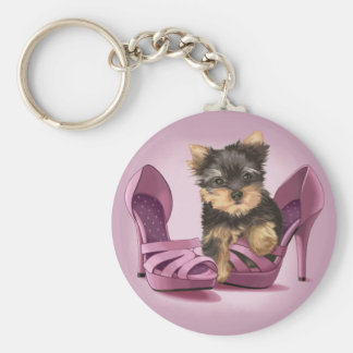 Yorkie in Shoe Key Ring