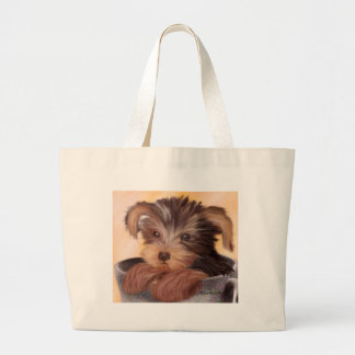 Yorkie in your Cup Jumbo Tote Bag