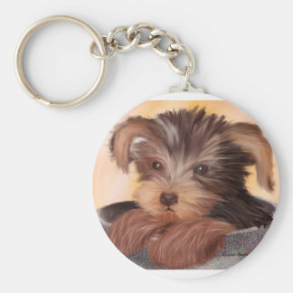 Yorkie in your Cup Key Ring