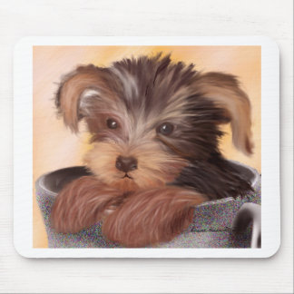 Yorkie in your Cup Mouse Pad