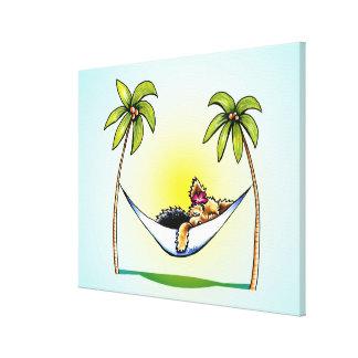 Yorkie Island Princess Off-Leash Art™ Gallery Wrapped Canvas