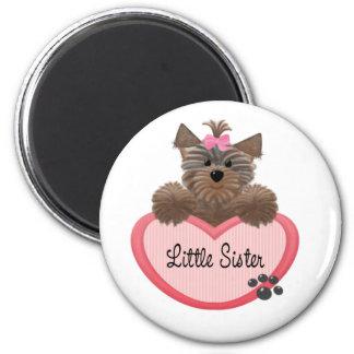 Yorkie Little Sister 6 Cm Round Magnet