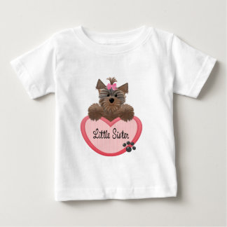 Yorkie Little Sister Baby T-Shirt