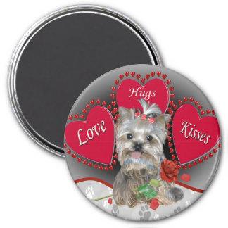 Yorkie Love Hug Kisses Magnet