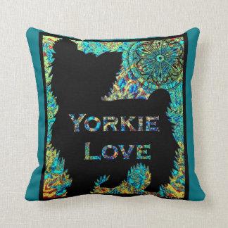 Yorkie Love pillow by Carol Zeock Cushion
