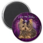 Yorkie Love You 6 Cm Round Magnet