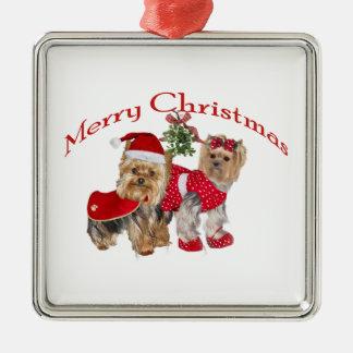 Yorkie Merry Christmas Christmas Ornament