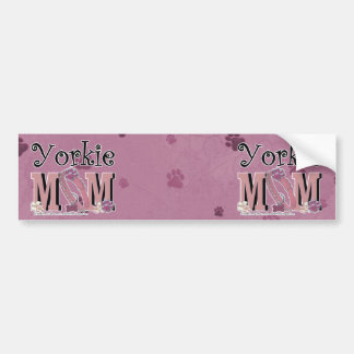 Yorkie MOM Bumper Sticker
