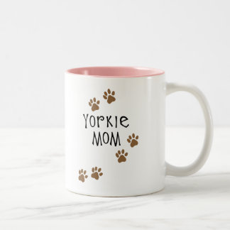 Yorkie Mom Two-Tone Coffee Mug