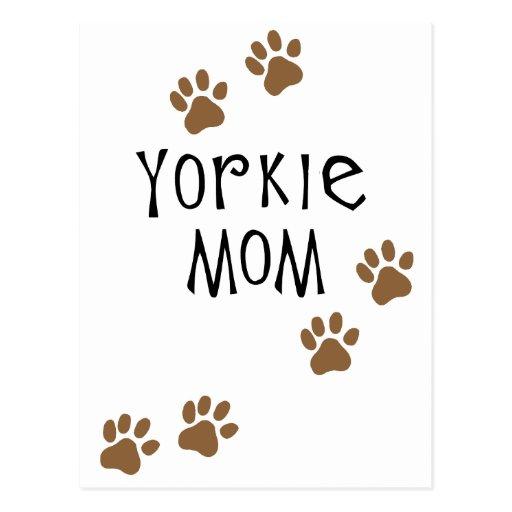 Yorkie Mum Post Cards