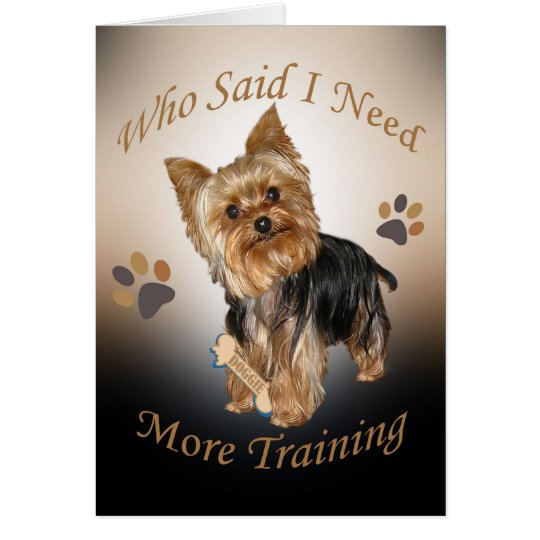 Yorkie Needs Training cards