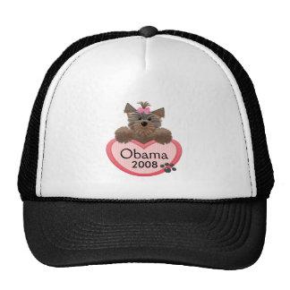Yorkie-Obama 2008 Hats