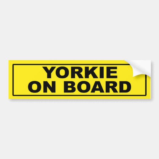 Yorkie on Board Bumper Sticker
