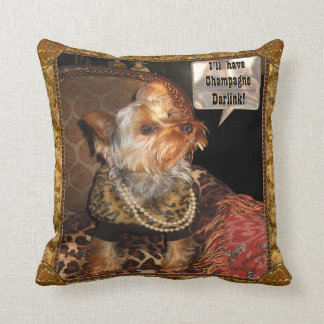 Yorkie Party Night Cushion