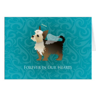 Yorkie - Pet Memorial - Angel Dog Card