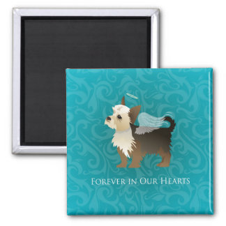 Yorkie - Pet Memorial - Angel Dog Square Magnet