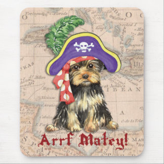 Yorkie Pirate Mouse Pad