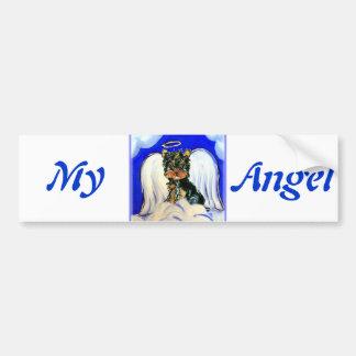 Yorkie Poo Angel Bumper Sticker