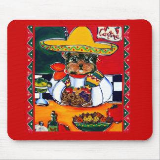 Yorkie Poo Cinco de Mayo Mouse Pad