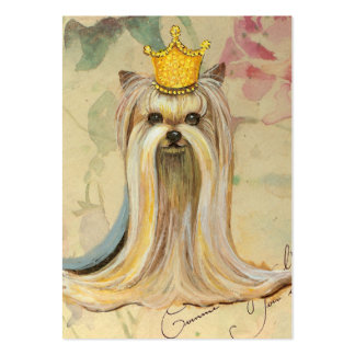 Yorkie Princess in Crown Business Cards