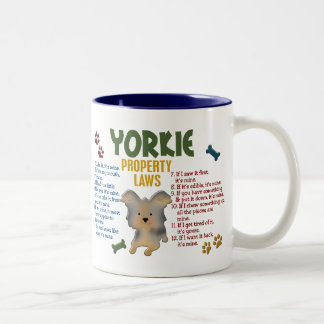 Yorkie Property Laws 4 Two-Tone Coffee Mug