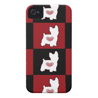 Yorkie/ Puppy Love iPhone 4 Cases