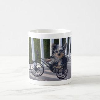Yorkie Puppy Basic White Mug