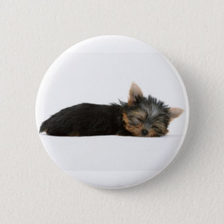 Yorkie Puppy Sleeping 6 Cm Round Badge