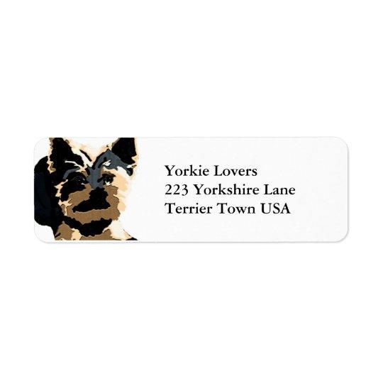 Yorkie Style Return Address Label