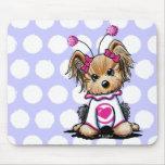 Yorkie Terrier Love Bug Mousepad