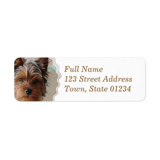 Yorkie Terrier  Mailing Label