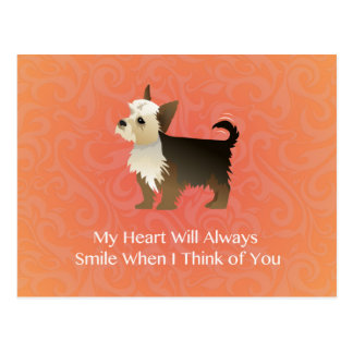 Yorkie Thinking of You Design. Postcard
